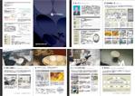展示会用 チラシ(表裏)・カタログ(8P)・パネル(4-5点)の納品画像