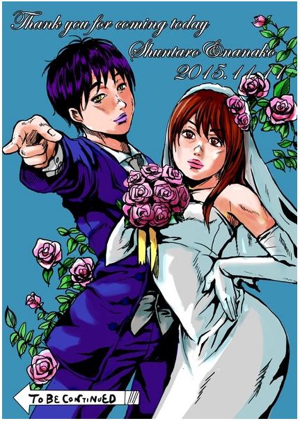 結婚式のウェルカムボード用似顔絵